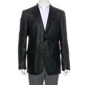 Michael Kors Black Metallic Wool Blazer NWT